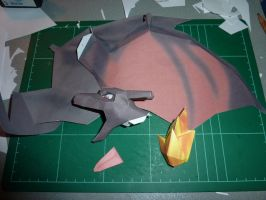 Paperpokes - Charizard WIP 1 by JouzuMania