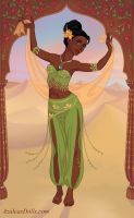 Indian Dancer Tiana by M-Mannering