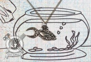 Spoon Goldfish Necklace by Doctor-Gus
