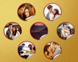 Twilight Breaking Dawn gold brushed Wallpaper by Maysa2010