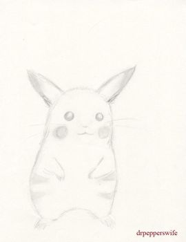 Realistic Pikachu by drpepperswife