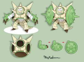 Mega Chesnaught - concept art by delgalessio