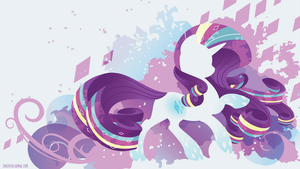 Rainbow Power Rarity Silhouette Wall by SpaceKitty