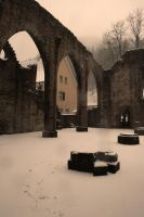 Ruins In Snow by Flairen