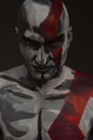 Bodypainting - Kratos God of War III by mihepu