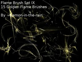 Flame-Glow Gimp Brushes-Set IX by Demon-in-the-rain