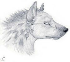 Tribal Hyena Profile by Korrok