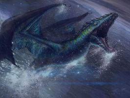 Blue Dragon From Water by misi006