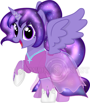 Galaxy Moonshine's Gala and Princess Gown by AnimeEmm
