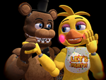 [MMD] Toy Chica X Withered Freddy by sonic858