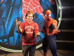 Picture with Spider Man by montey4