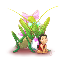Lucy and 'Pinchy' by Scifer
