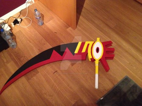 Soul Death scythe starting to take form by 0lostangel0