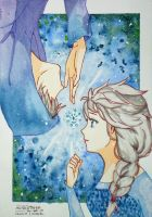 Fan Art - Elsa y Jack Frost by Makaranai
