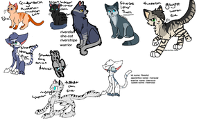 My Warrior Ocs And Sonas by howlingnightmare