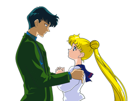 SAILOR STARS - Mamoru Chiba And Usagi Tsukino KISS by JackoWcastillo