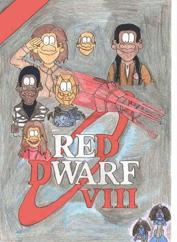 Red Dwarf 8 Book cover by melsterdoom