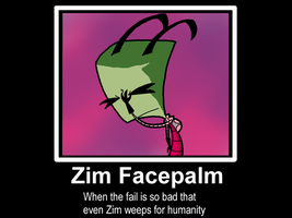 Zim Facepalm by HeidiMoose