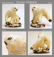 Snowy Owlbear by WilliamWeird