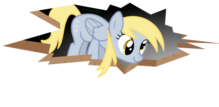 Lolponies: Ceiling Derpy is watching you. by AxemGR