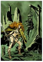 Red Sonja pin up by MinckOosterveer