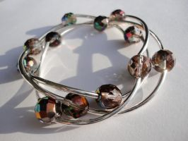 Crystal Vitex Czech Glass Bracelet Set by Leesa-M