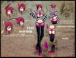 OC Reference-Fail Vampire-Cyan by Ruri-dere