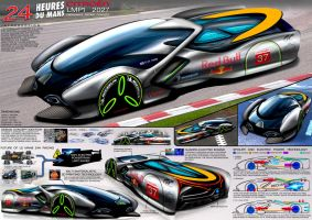 Citroen 2027 LMP1 EV Endurance Racing Concept by toyonda