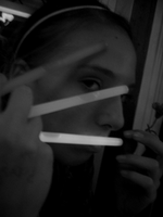 black and white glowsticks by herheartthrobs
