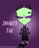 Invader Tak COLOURED by Glitch-alpha