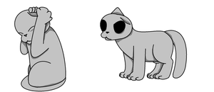 gray cat for lost contest by tenri-colorless