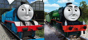 Gordon and Flying Scotsman by ChipmunkRaccoonOz