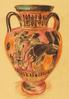 Vase from Ancient Thira. Santorini by 80sdisco
