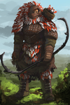 Chieftain of the White and Red Feathers by Adzerak