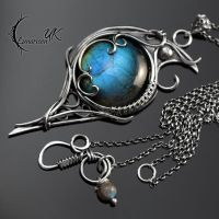 MYTHIAR AGNYR - silver and labradorite by LUNARIEEN
