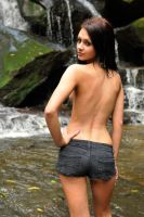 Tara turns from the falls 2 by wildplaces