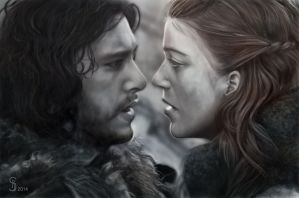 Jon and Ygritee(Games Of Thrones) by Anomis91