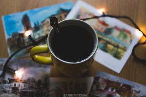 Tea and postcards by Lilplague