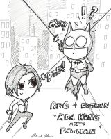 Ada meets Batman_Chibi form by PatrickOlsen