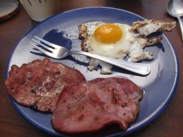 Egg and bacon by Santian69