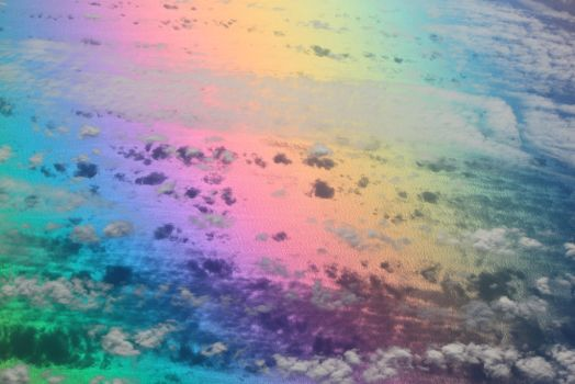 Above The Clouds On A Rainbow Road by cloudcat181