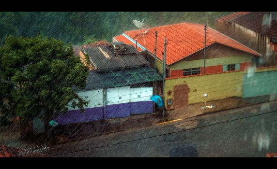 south america's pouring rain by douglast
