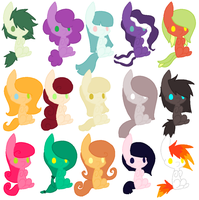 Free Pony Adopts~! .:Closed:. by Arrestii