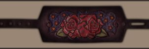 Roses and Stars Bracelet by ElVaqueroMuerto