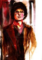Pen and Watercoulor Drawing: Omar Rodriguez-Lopez by Hirominya