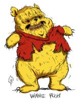 Winnie Pooh by FlammablePerson
