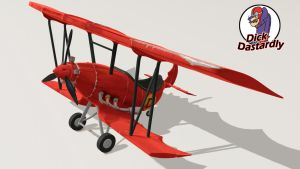 Dick Dastardly's Airplane _1 by B3Ns
