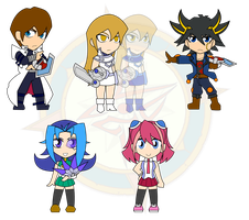 Assorted Chibis - Yugioh Generations by Dragon-FangX