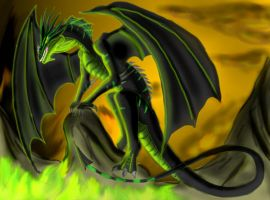 Raving Dark the Black Dragon by Lord-Lavrahtheen