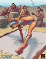 Street Fighter Tribute. ELENA by raultrevino